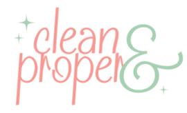 clean & proper logo